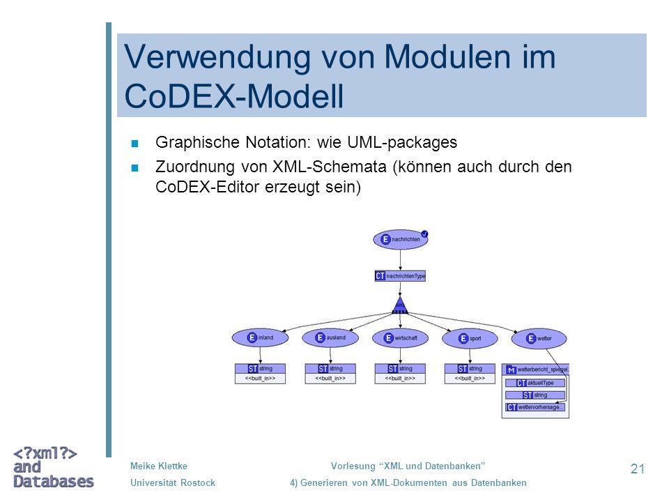 Verwendung von Modulen im CoDEX-Modell