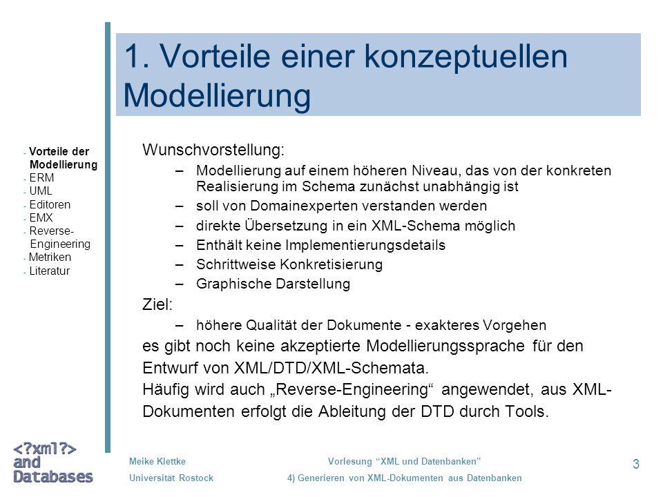 1. Vorteile einer konzeptuellen Modellierung