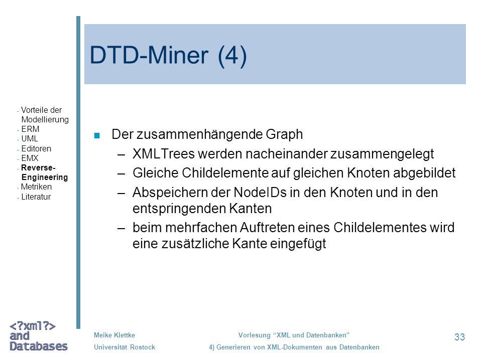 DTD-Miner (4) Der zusammenhängende Graph