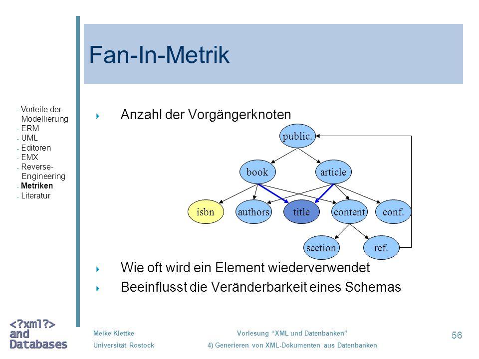 Fan-In-Metrik Anzahl der Vorgängerknoten