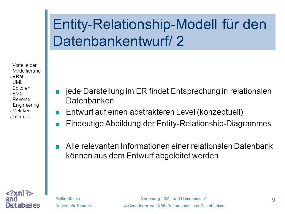 Entity-Relationship-Modell für den Datenbankentwurf/ 2