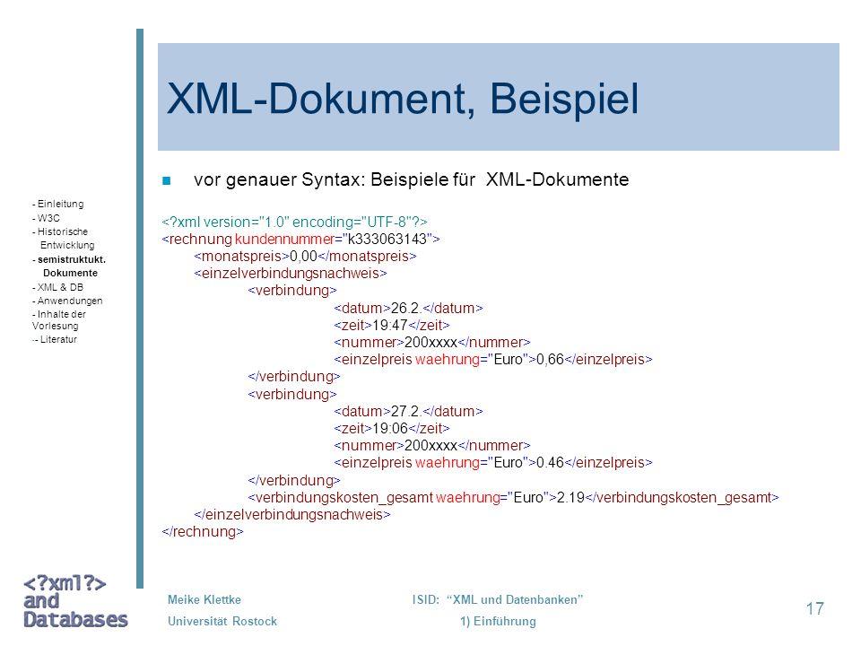 XML-Dokument, Beispiel