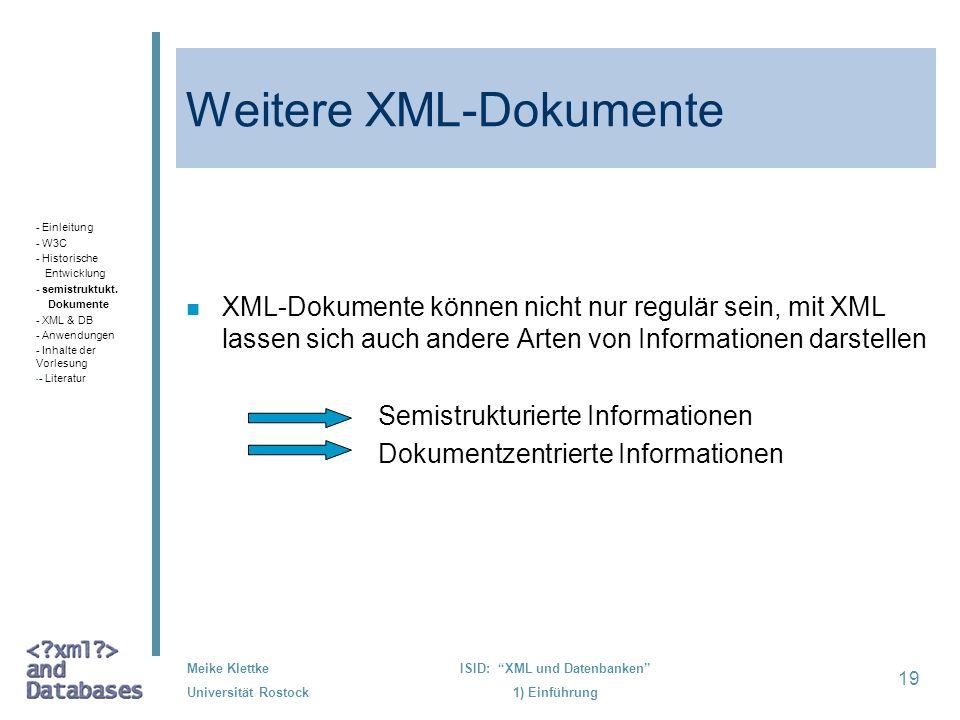 Weitere XML-Dokumente