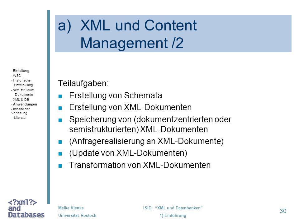 XML und Content Management /2