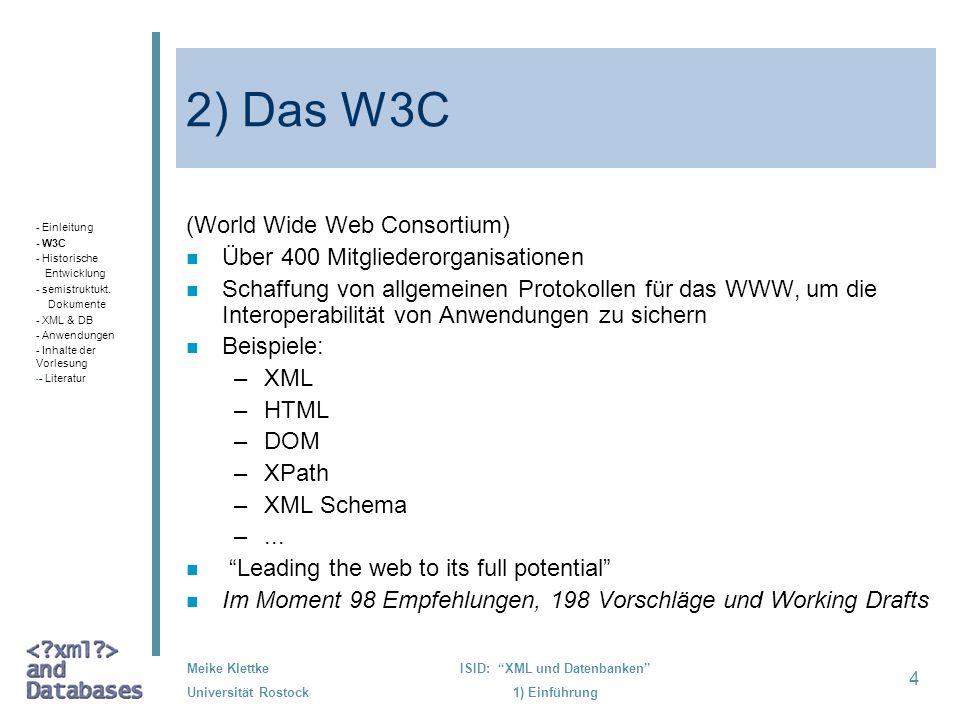 ISID: XML und Datenbanken