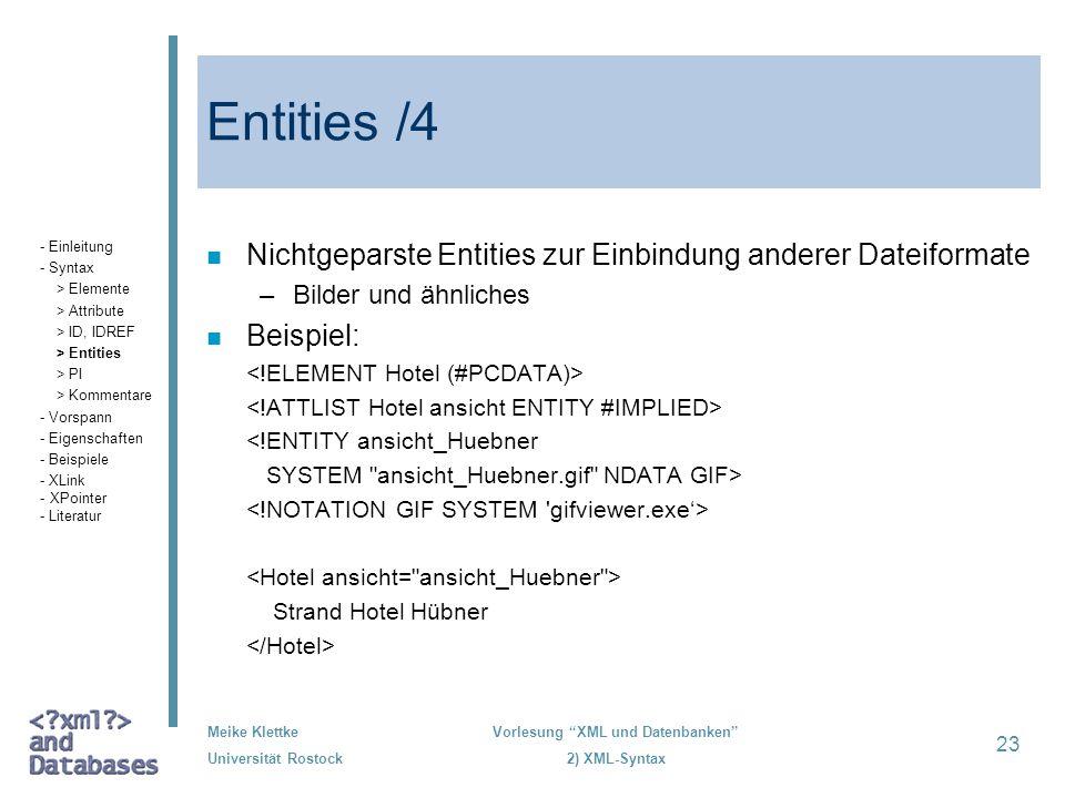Entities /4 Nichtgeparste Entities zur Einbindung anderer Dateiformate