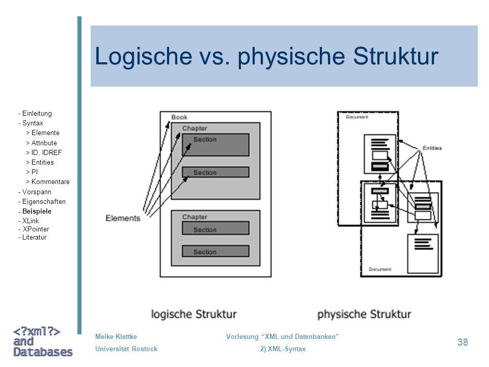 Logische vs. physische Struktur