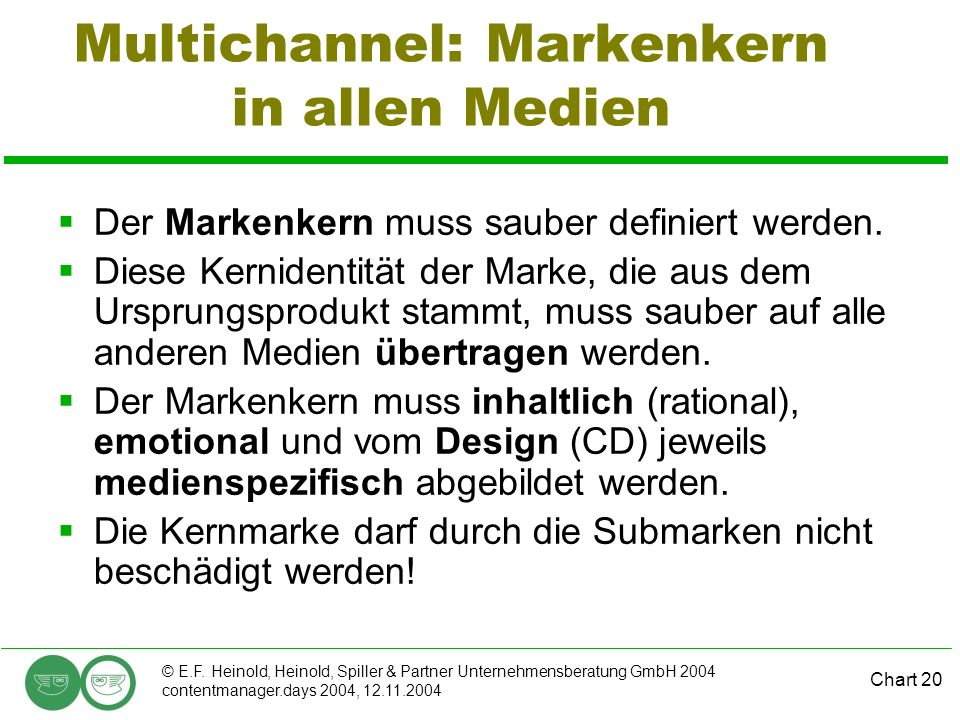 Multichannel: Markenkern in allen Medien
