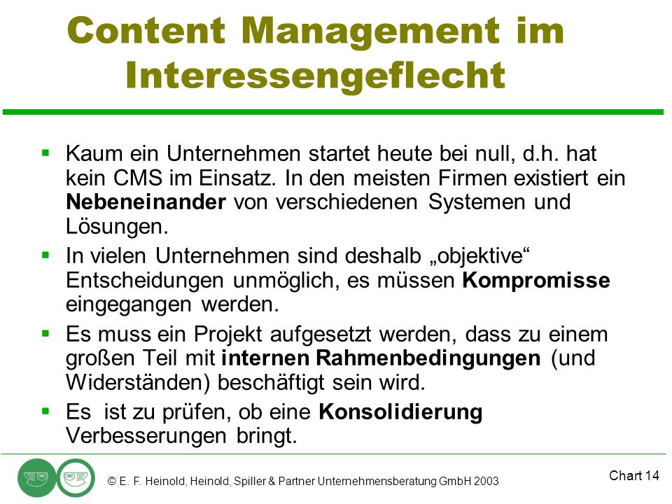 Content Management im Interessengeflecht