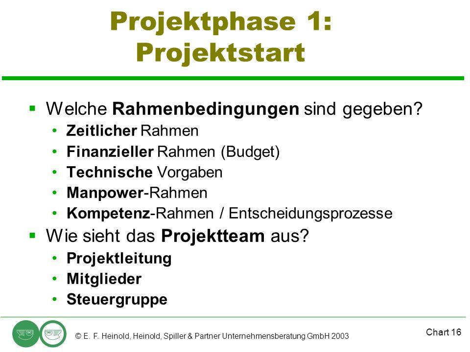 Projektphase 1: Projektstart