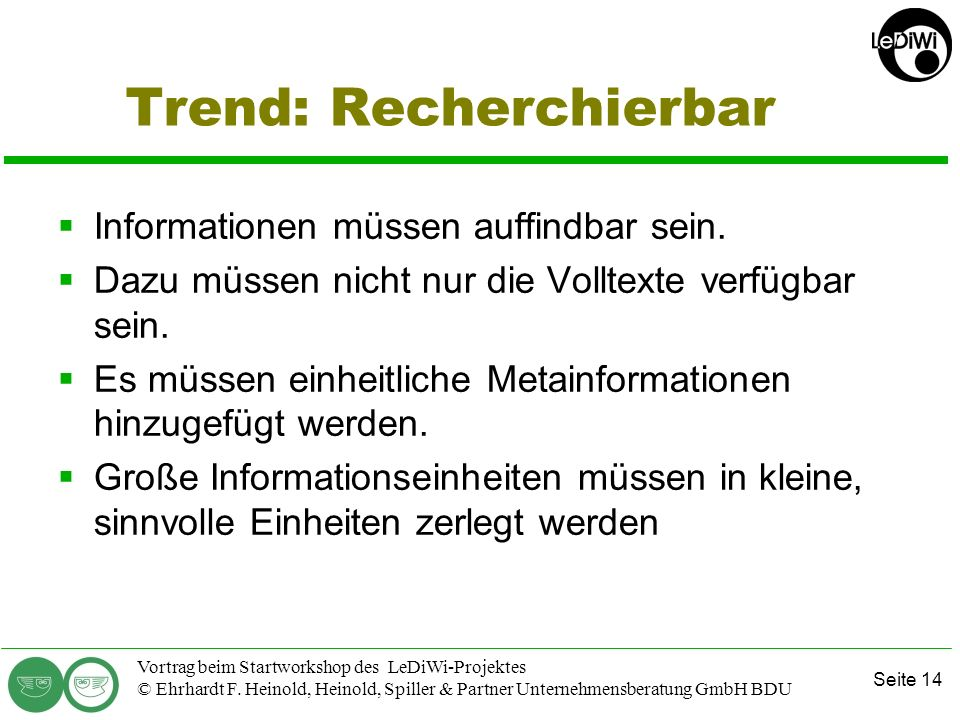 Trend: Recherchierbar