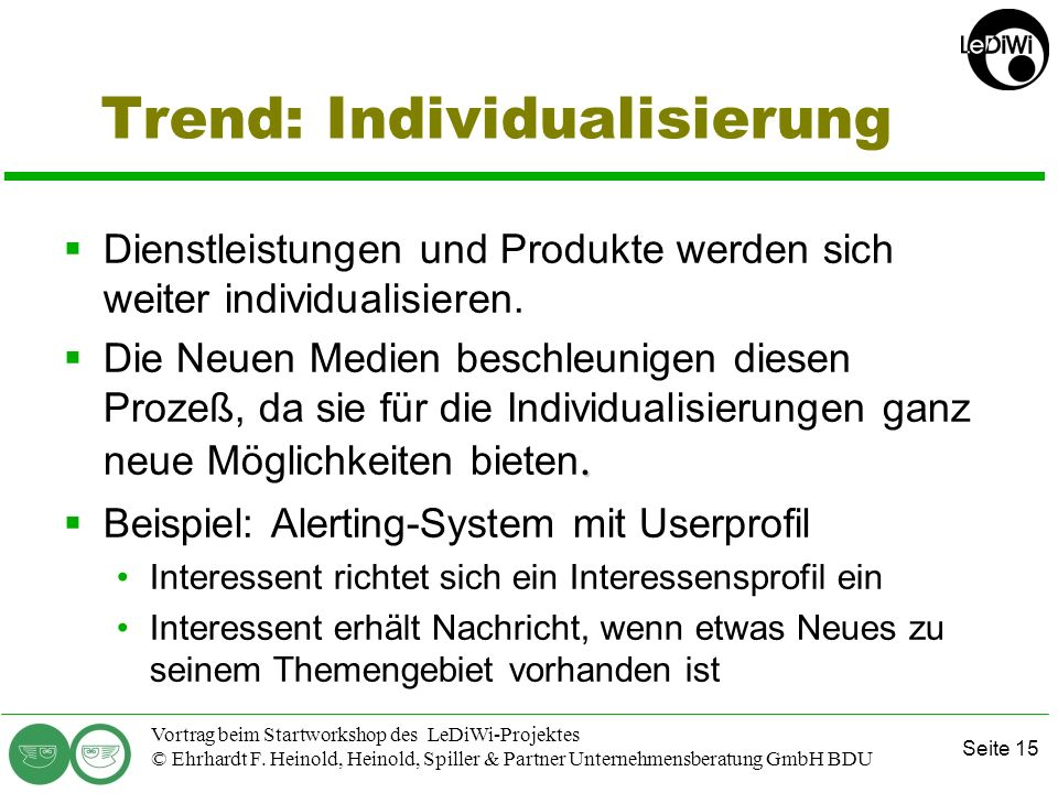 Trend: Individualisierung
