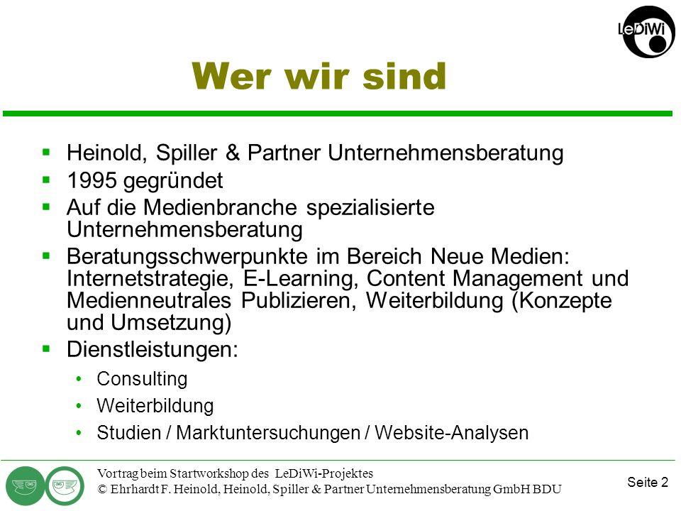 Wer wir sind Heinold, Spiller & Partner Unternehmensberatung