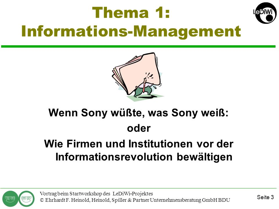 Thema 1: Informations-Management
