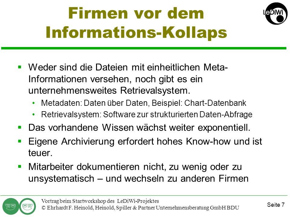 Firmen vor dem Informations-Kollaps