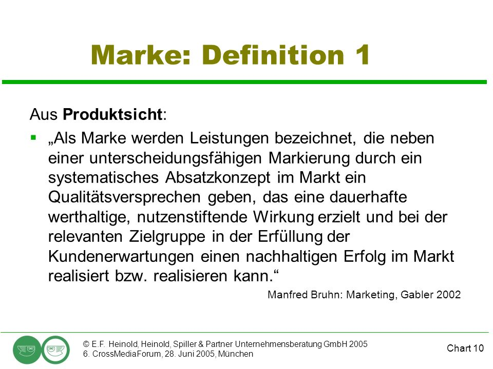 Marke: Definition 1 Aus Produktsicht: