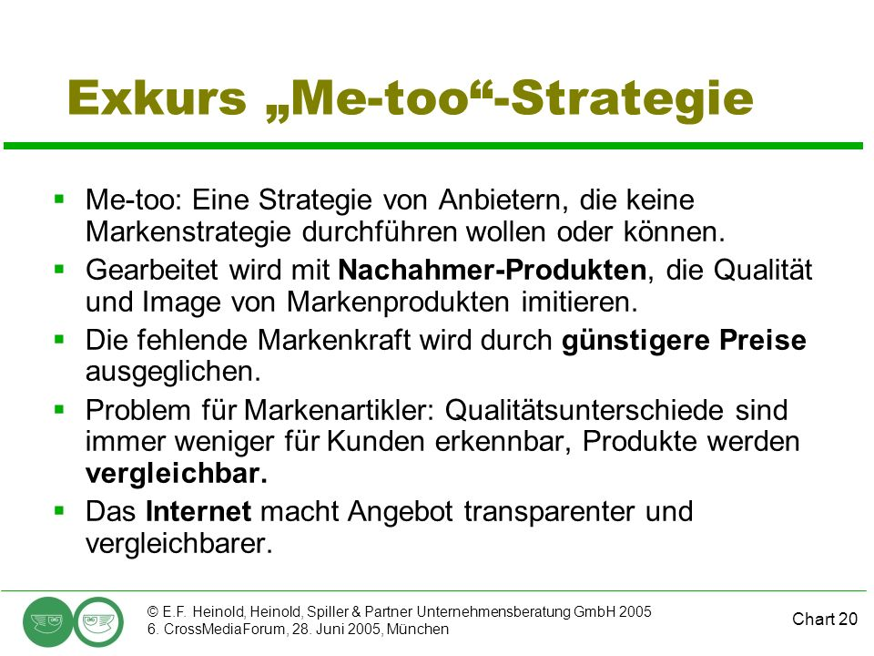 "Exkurs ""Me-too -Strategie"