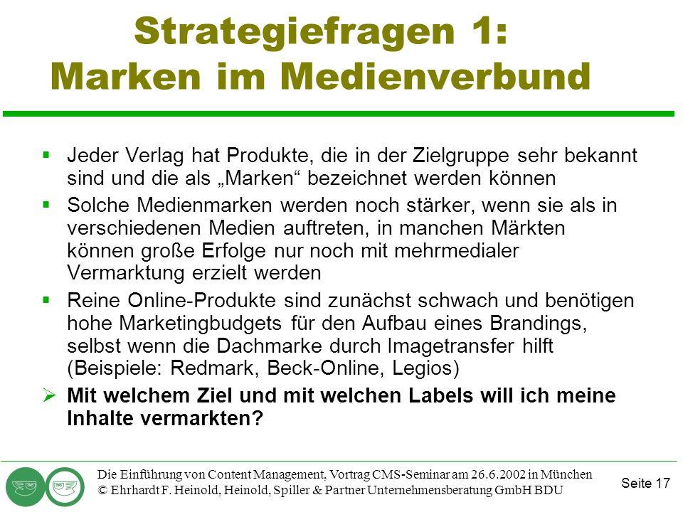 Strategiefragen 1: Marken im Medienverbund