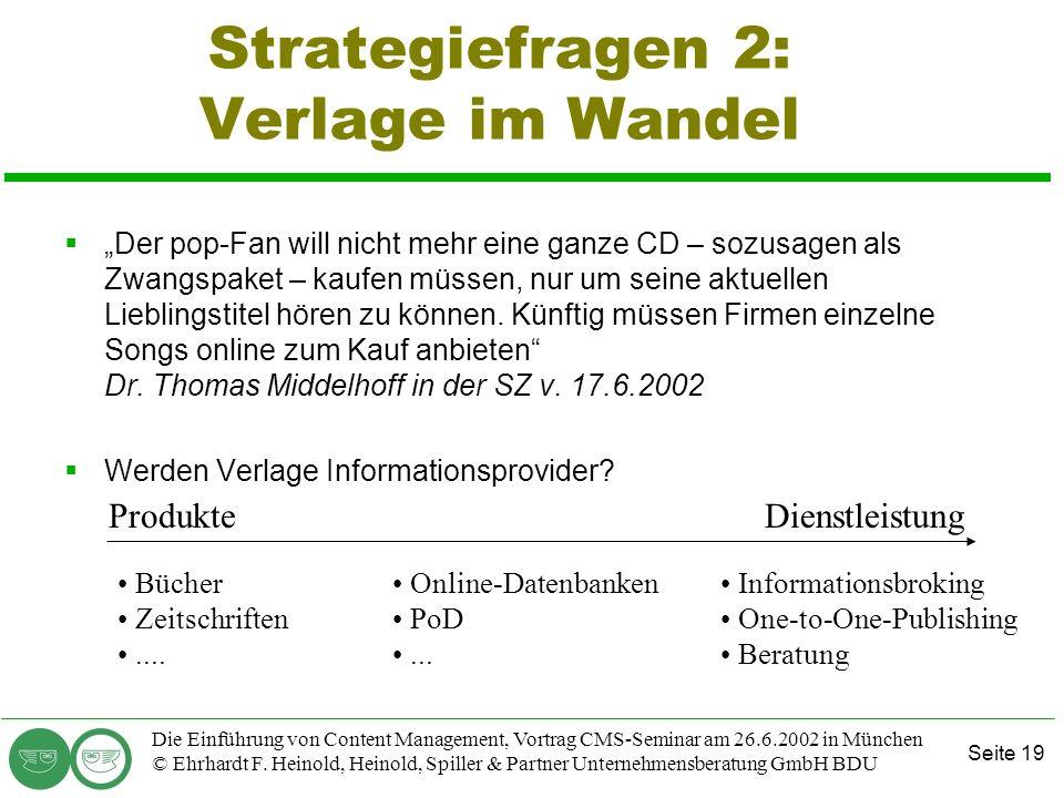 Strategiefragen 2: Verlage im Wandel