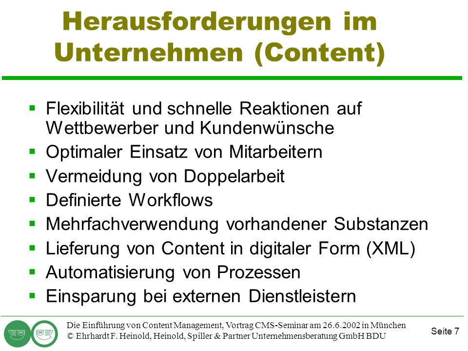 Herausforderungen im Unternehmen (Content)