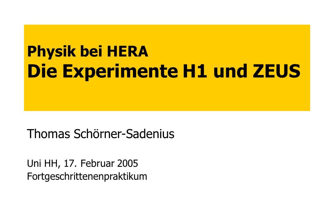 Physik bei HERA Die Experimente H1 und ZEUS