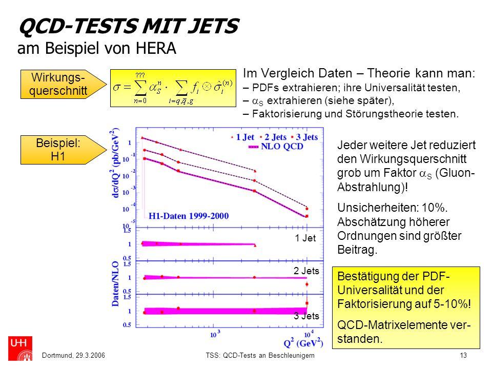 QCD-TESTS MIT JETS am Beispiel von HERA
