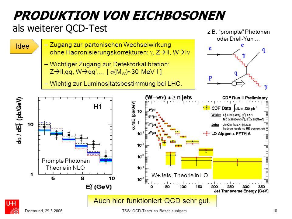 PRODUKTION VON EICHBOSONEN als weiterer QCD-Test