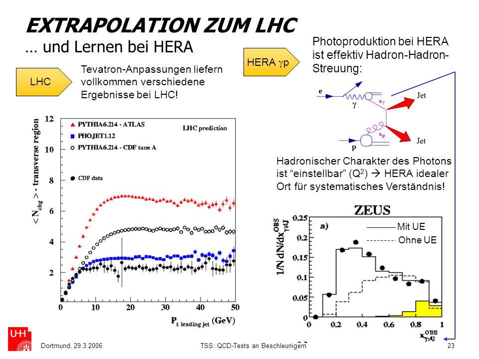 EXTRAPOLATION ZUM LHC … und Lernen bei HERA
