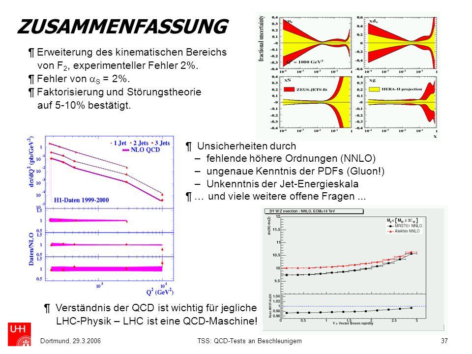 TSS: QCD-Tests an Beschleunigern