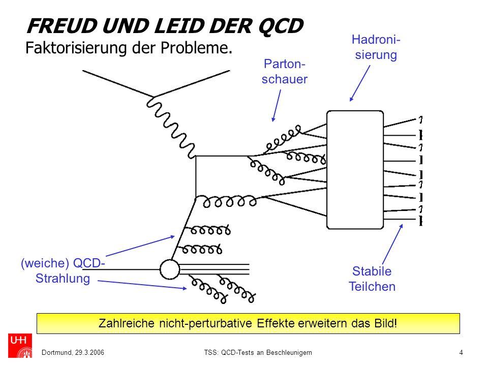FREUD UND LEID DER QCD Faktorisierung der Probleme.