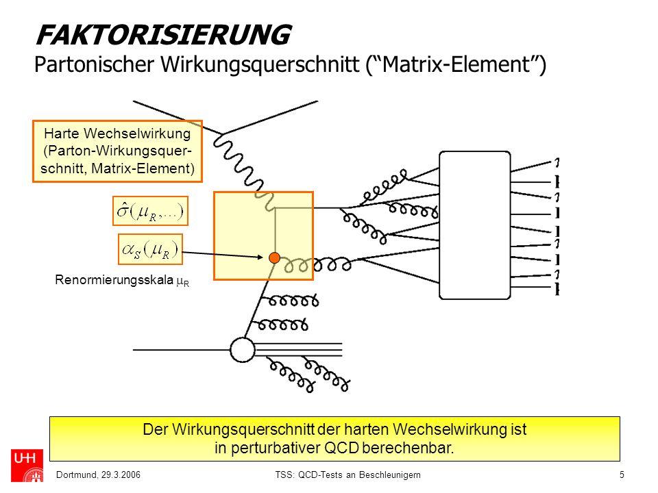 FAKTORISIERUNG Partonischer Wirkungsquerschnitt ( Matrix-Element )