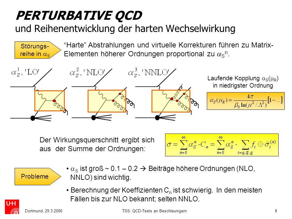 PERTURBATIVE QCD und Reihenentwicklung der harten Wechselwirkung