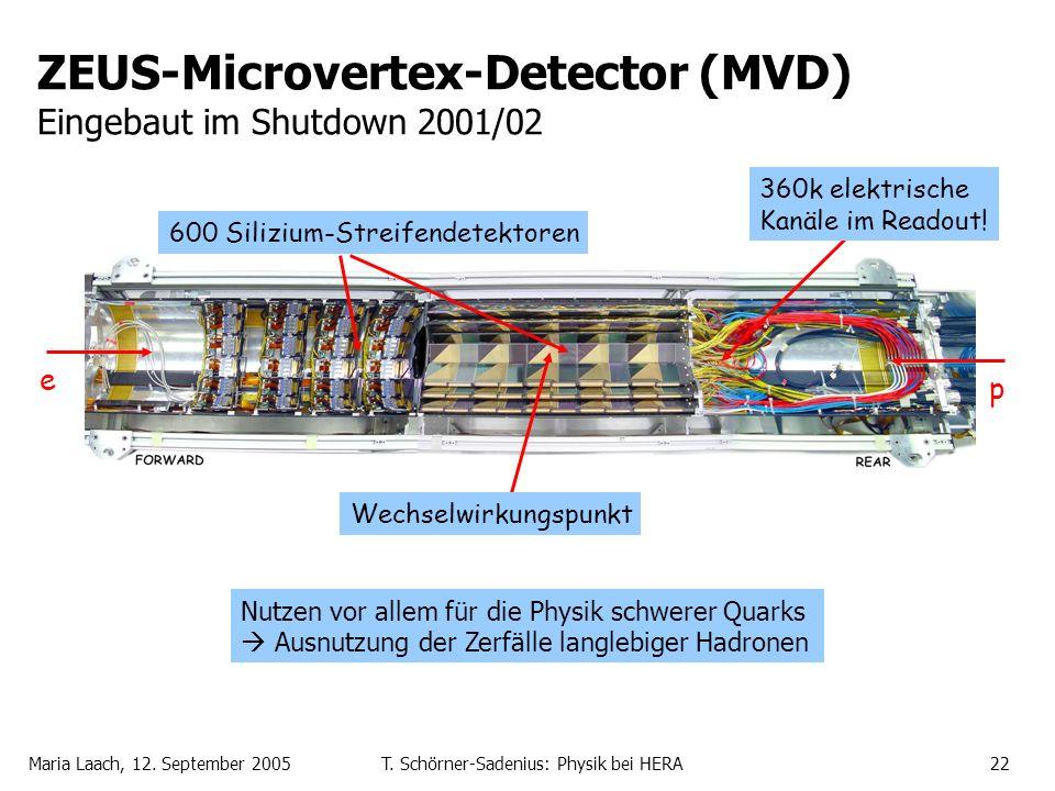 ZEUS-Microvertex-Detector (MVD) Eingebaut im Shutdown 2001/02