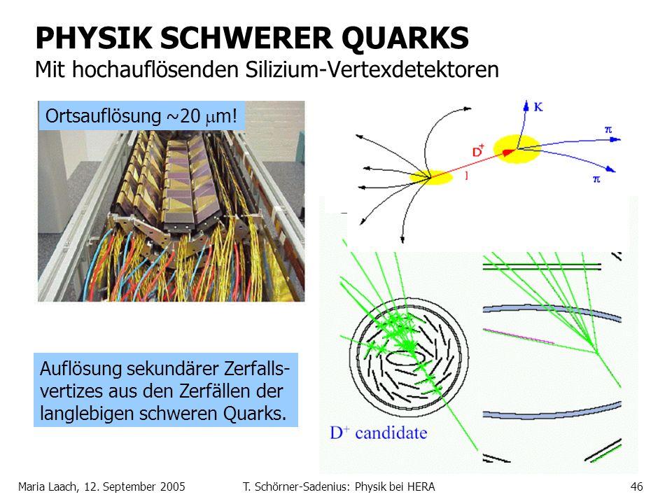 PHYSIK SCHWERER QUARKS Mit hochauflösenden Silizium-Vertexdetektoren