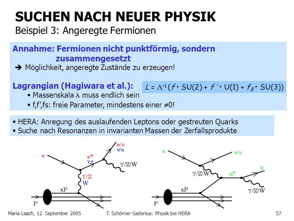 SUCHEN NACH NEUER PHYSIK Beispiel 3: Angeregte Fermionen