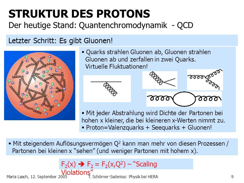 STRUKTUR DES PROTONS Der heutige Stand: Quantenchromodynamik - QCD