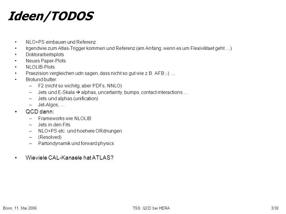 Ideen/TODOS QCD dann: Wieviele CAL-Kanaele hat ATLAS