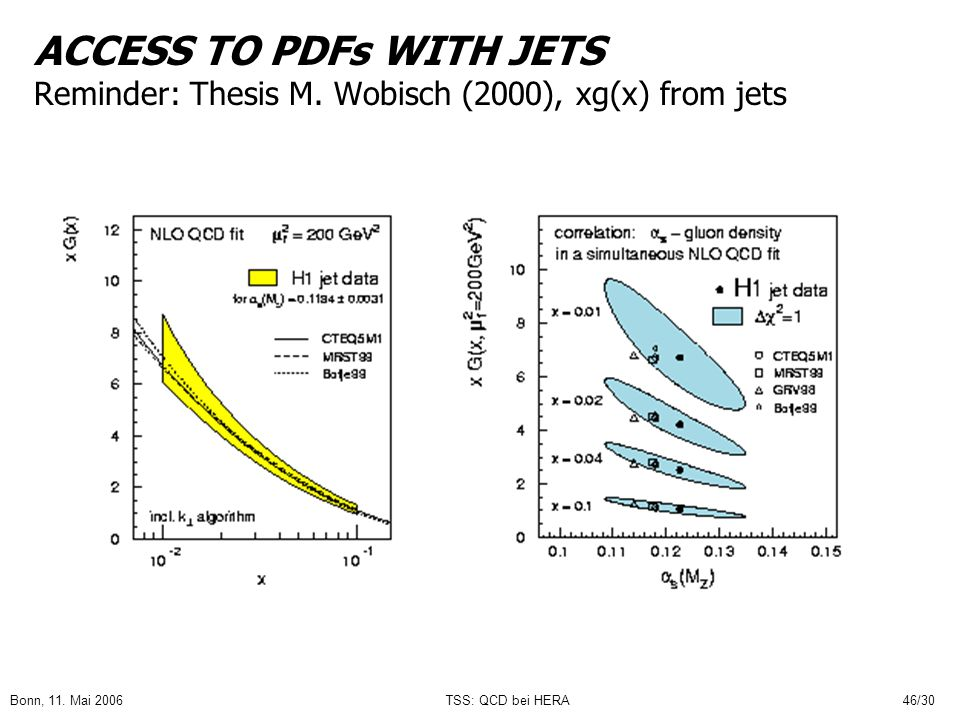 ACCESS TO PDFs WITH JETS Reminder: Thesis M