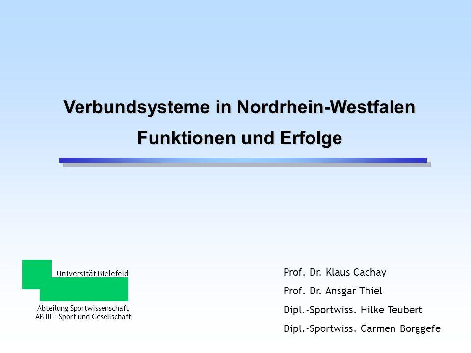 Verbundsysteme in Nordrhein-Westfalen Funktionen und Erfolge