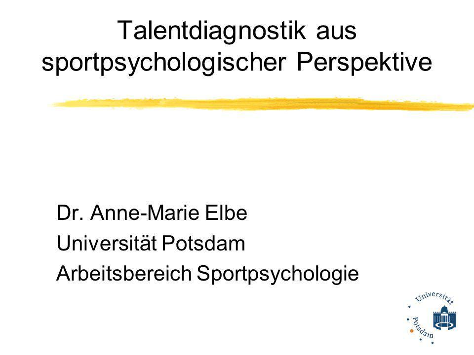 Talentdiagnostik aus sportpsychologischer Perspektive