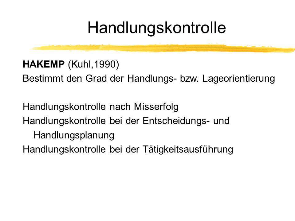 Handlungskontrolle HAKEMP (Kuhl,1990)