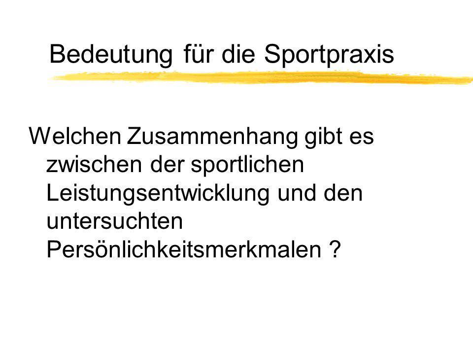 Bedeutung für die Sportpraxis