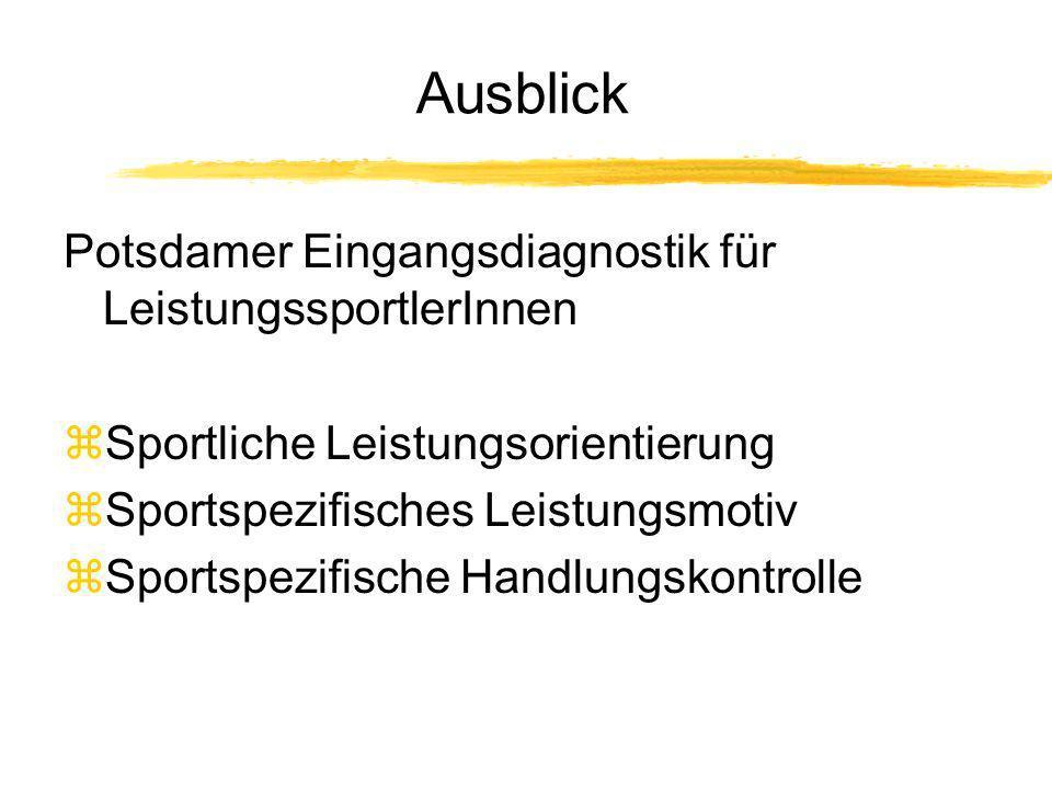Ausblick Potsdamer Eingangsdiagnostik für LeistungssportlerInnen
