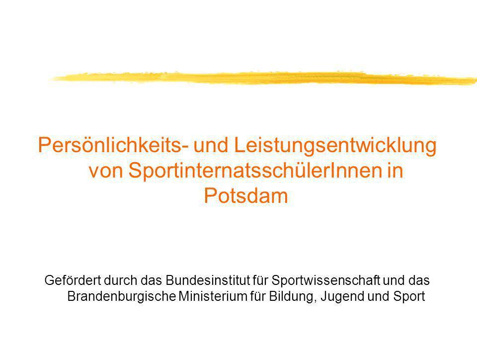 Persönlichkeits- und Leistungsentwicklung von SportinternatsschülerInnen in Potsdam
