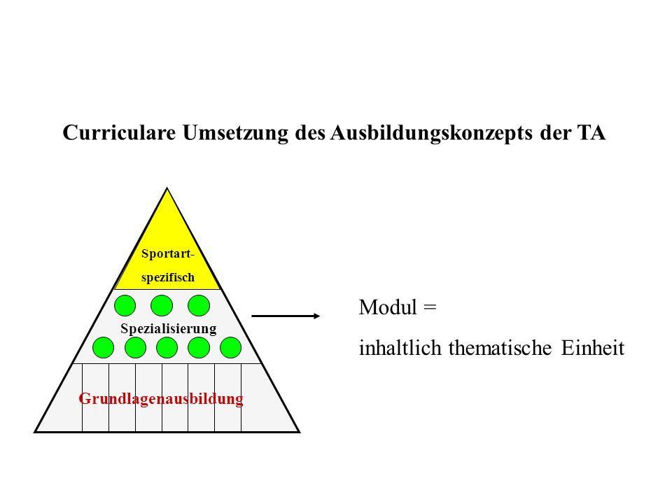 Curriculare Umsetzung des Ausbildungskonzepts der TA