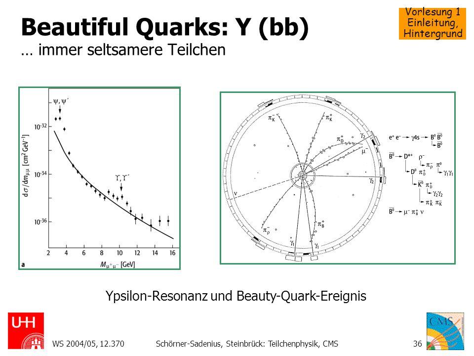 Beautiful Quarks: Y (bb) … immer seltsamere Teilchen