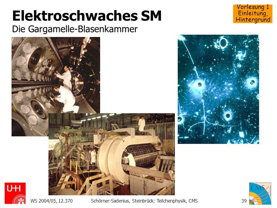 Elektroschwaches SM Die Gargamelle-Blasenkammer