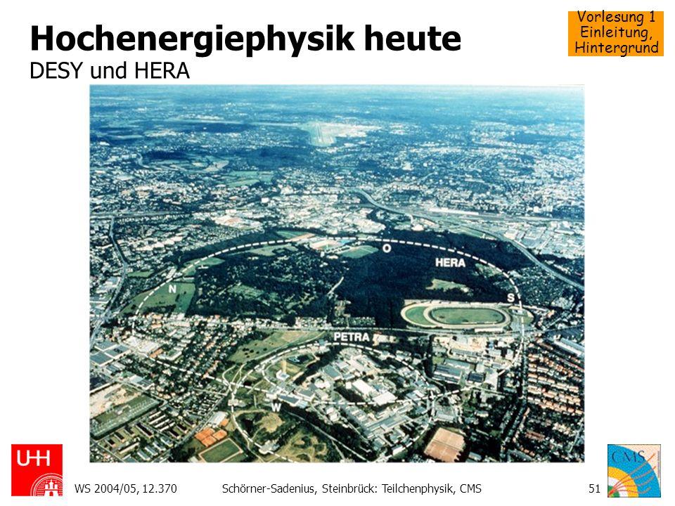 Hochenergiephysik heute DESY und HERA