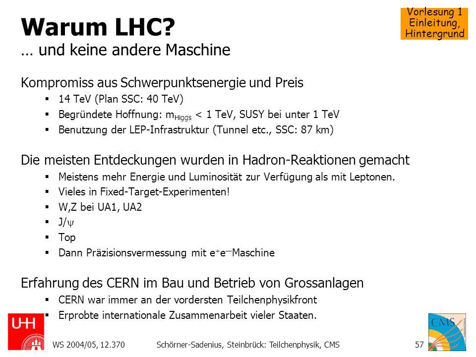 Warum LHC … und keine andere Maschine
