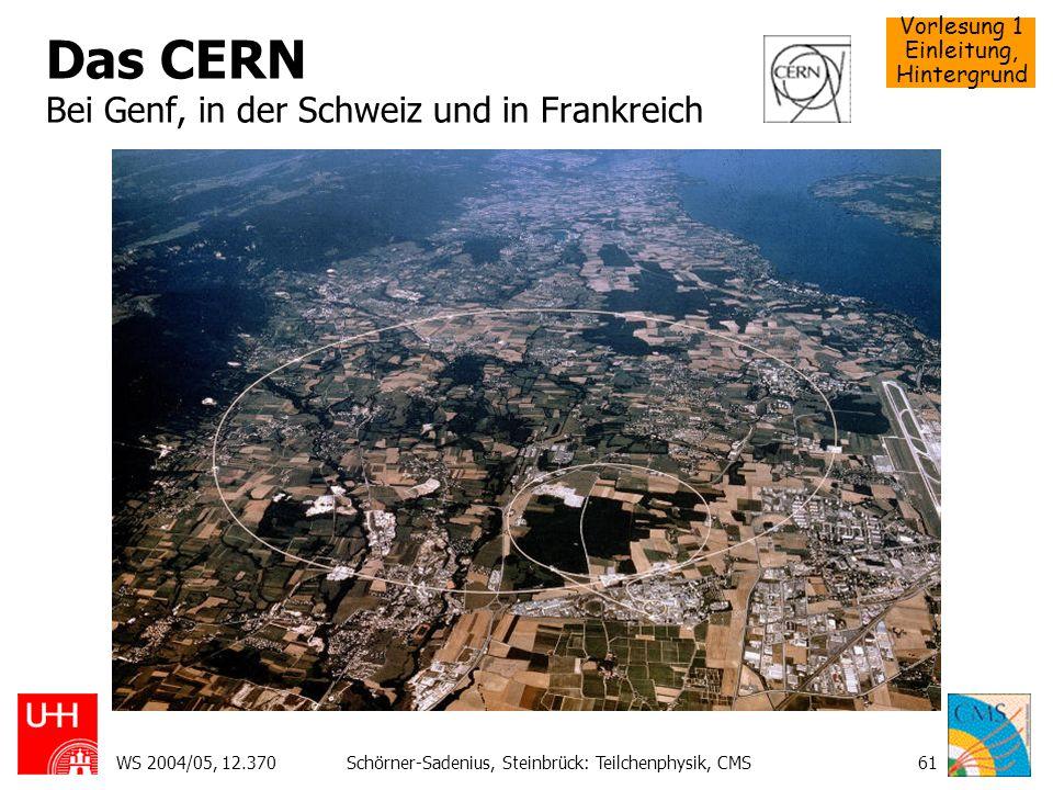 Das CERN Bei Genf, in der Schweiz und in Frankreich